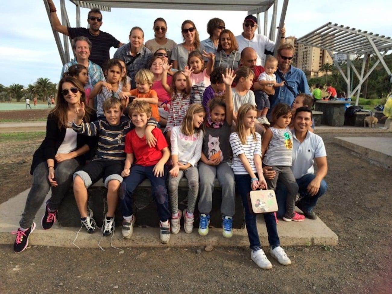 Bilder på barn från Svenska skolan Gran Canaria